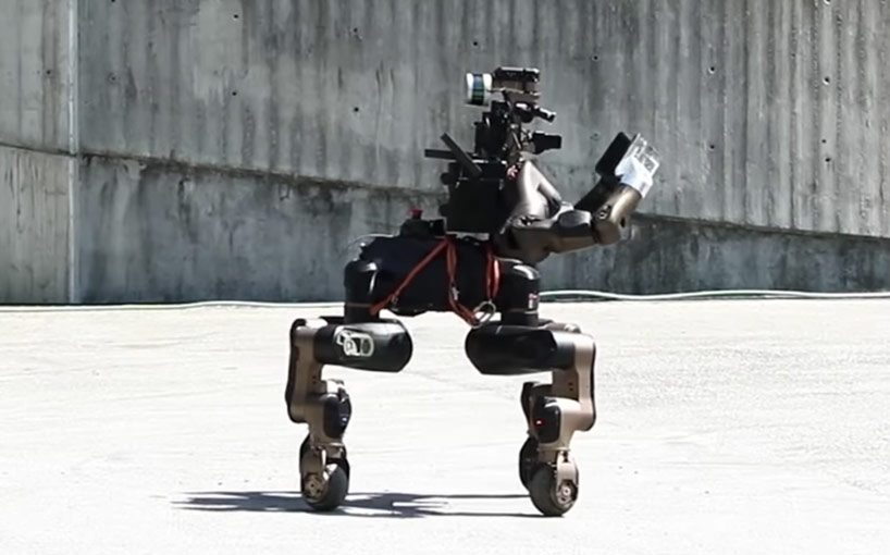 centauro is a horse-like disaster response robot with karate chopping hooves