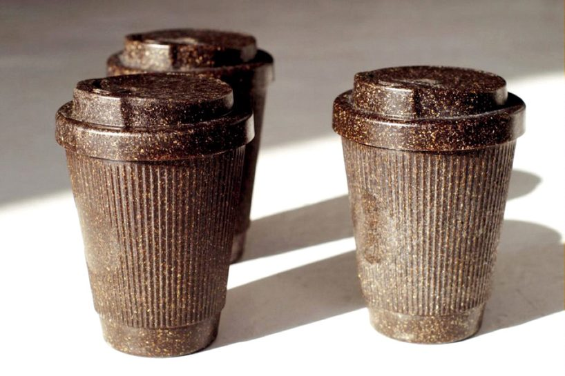 kaffeeform reusable coffee cups are made from old recyclable coffee grounds