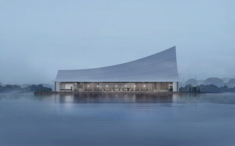 the most beautiful bookstore in chengdu by MUDA-architects sits by the xinglong lake