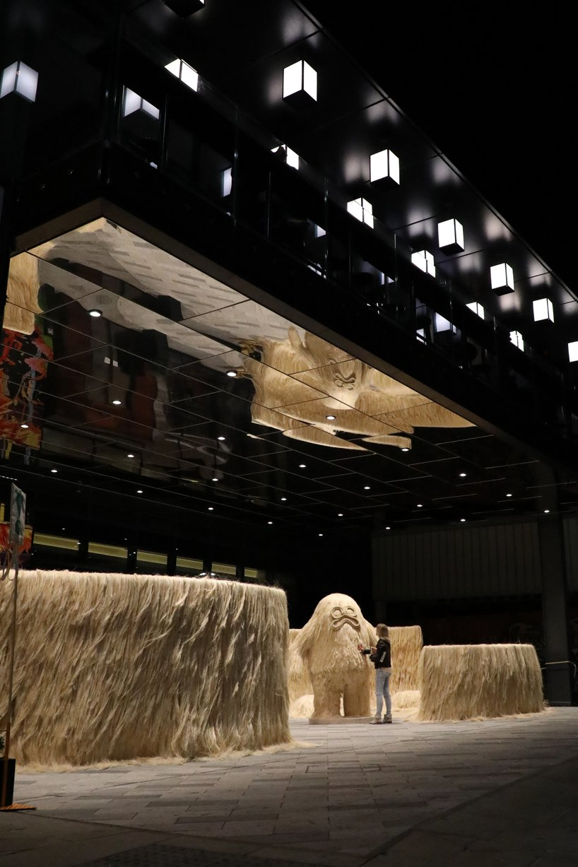 hairy giants protect a mexican oasis in fernando laposse's sisal sanctum for LDF citizenM sisal sanctum