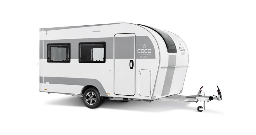 the coco e-camper is designed for electric cars, featuring a dual-motor axle