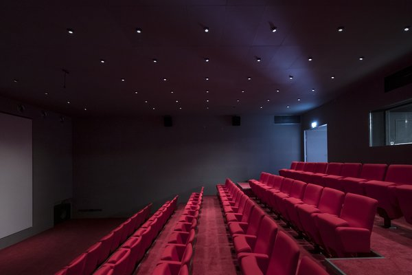 A theater is available for screenings of student projects.