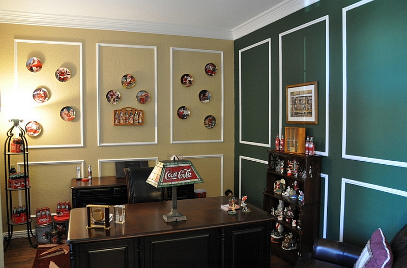 Smart Coca-Cola themed home office!