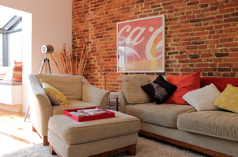 A contemporary and artistic take on the classic Coca-Cola poster in the living room