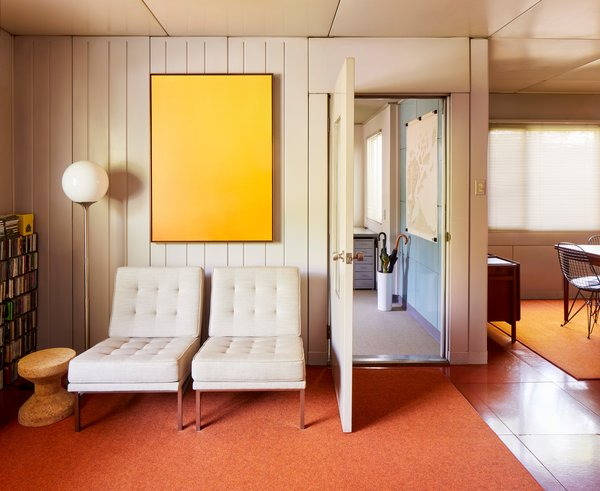 The style of this specific Lustron is known as Westchester Deluxe. Featuring 1,153 square feet of living space, the 1949 midcentury still remains in its rare original condition.