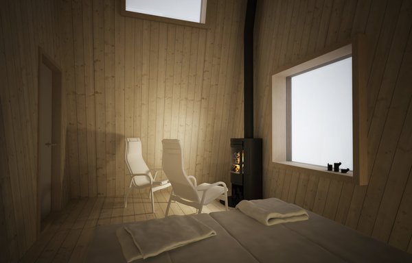 The rooms showcase Scandinavian design with simple luxury.