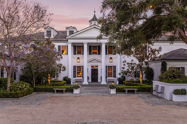 The home was built in 2010 by Santa Barbara–based architect Don Nulty and Feng shui master David Cho. A striking example of classic, East Coast–inspired American architecture, the residence boasts exquisite custom detailing and chic, modern comforts.