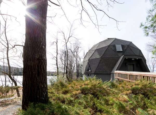 A Geodesic Dome Shines With a Light and Bright Makeover
