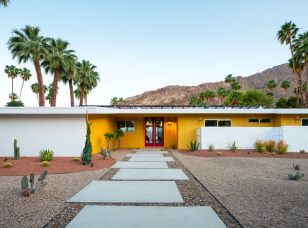 A yellow facade adds character to this recently renovated 1961 home on a corner lot in the heart of Vista Las Palmas, another Alexander subdivision.