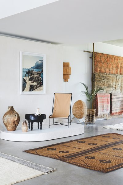 Tigmi Trading imports new and vintage rugs from Morocco to their boutique in Byron Bay.