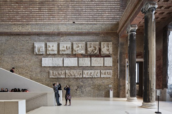 The Neues Museum in Berlin was resurrected over an eleven-year period. The architects' approach was to contrast contemporary repairs with restored original features, making for a dynamic mix of old and new.