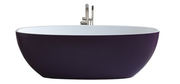 The Barcelona by Victoria and Albert. Thanks to the new RAL Color Service, all of the British company's freestanding tubs are now available in 194 colors.