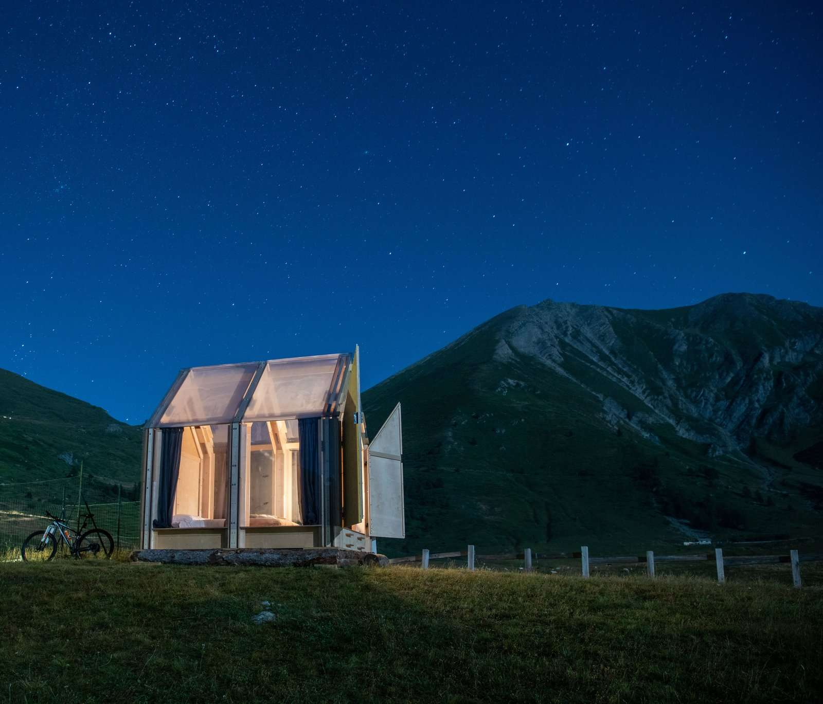 Guests can gaze at the stars all night long.