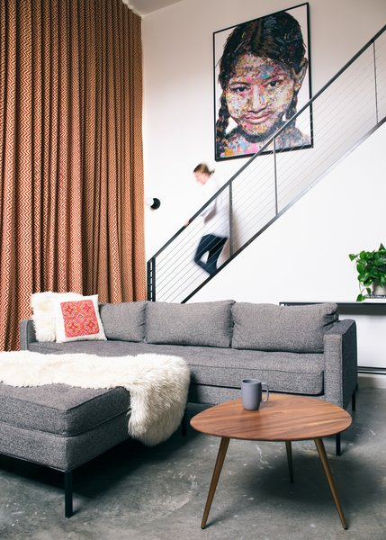 In order to transform a dated space into the ultimate, 700-square-foot city loft, Kathryn Heller and Kevin Short took on a lot of construction items themselves. Luckily, she's a designer and he's an architect. They outsourced electrical, plumbing, and paint, but did the demolition, framing, and much of the finish work themselves.