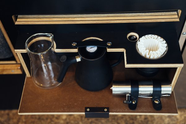 Caffeine is at your fingertips with a stashed pour-over kit.