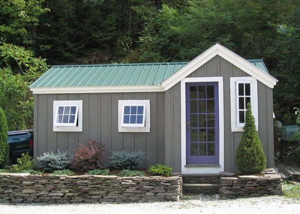 Jamaica Cottage Shop's Heritage model starts at around $4,000 for an unassembled kit. Buyers can also opt for more customized versions with tongue-and-groove flooring, an enlarged floor plan, cedar siding, roof shingles, and trellises and flower boxes.