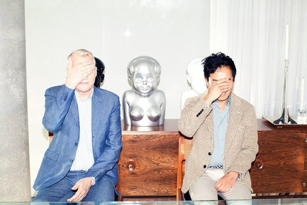 Glenn Pushelberg and George Yabu in the living room of their New York home. The duo encourage people to be playful: define your happy home not only in terms of how it can function well, but also spark joy in your life.
