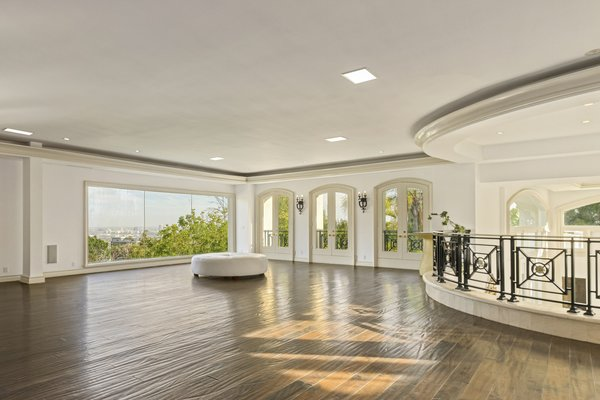 A peek at the ballroom, which features walls of glass framing the property's jetliner city views.