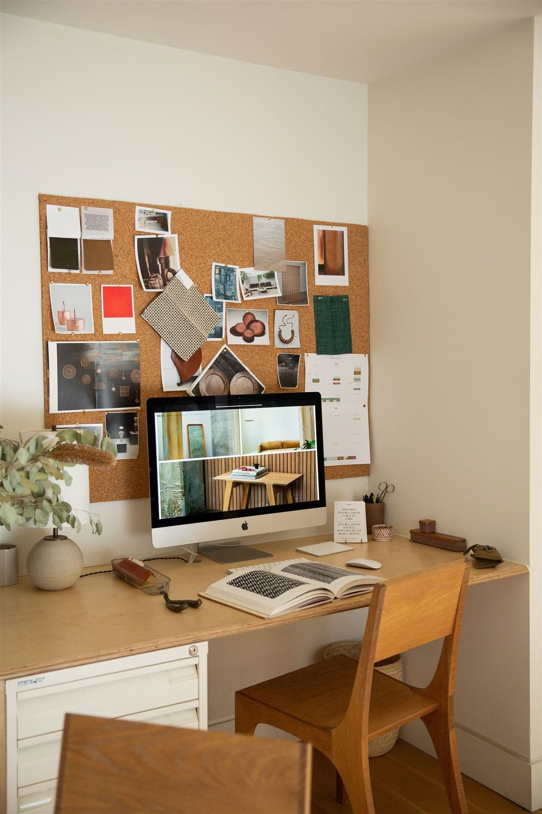 Working from home is old hat for Kalon founder and creative director Michaele Simmering whose had an in-home studio since she launched her business.