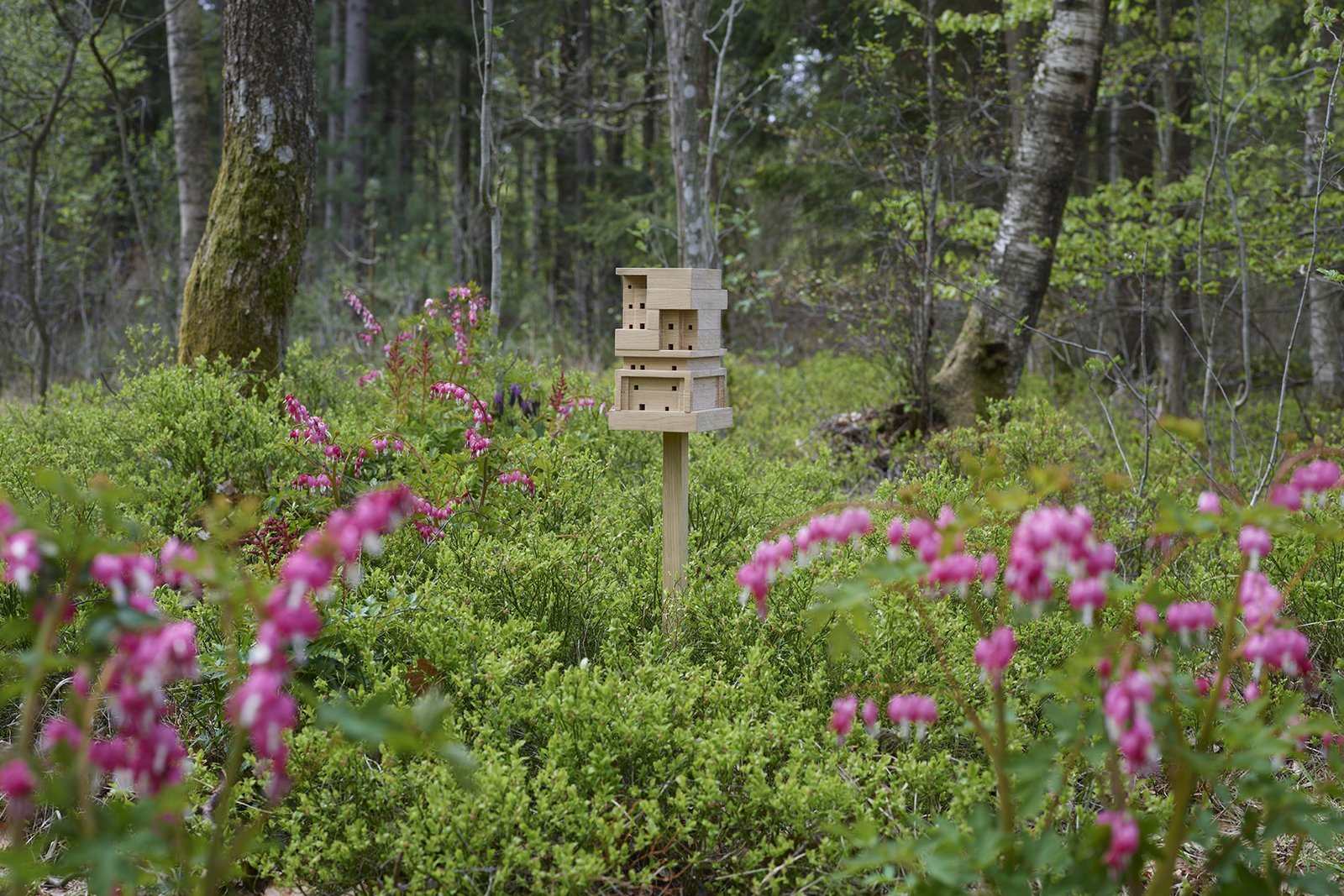 The Bee Home can be set up nearly anywhere outdoors. SPACE10 and Tanita Klein hope the open-source designs will raise awareness around bees' impact on the environment and our daily lives.