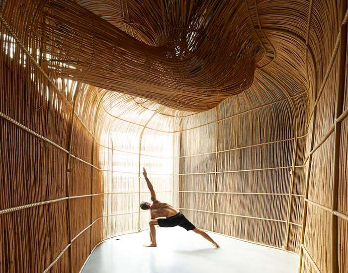 enter projects fuses 3D technology with local craftsmanship for vikasa yoga HQ in bangkok