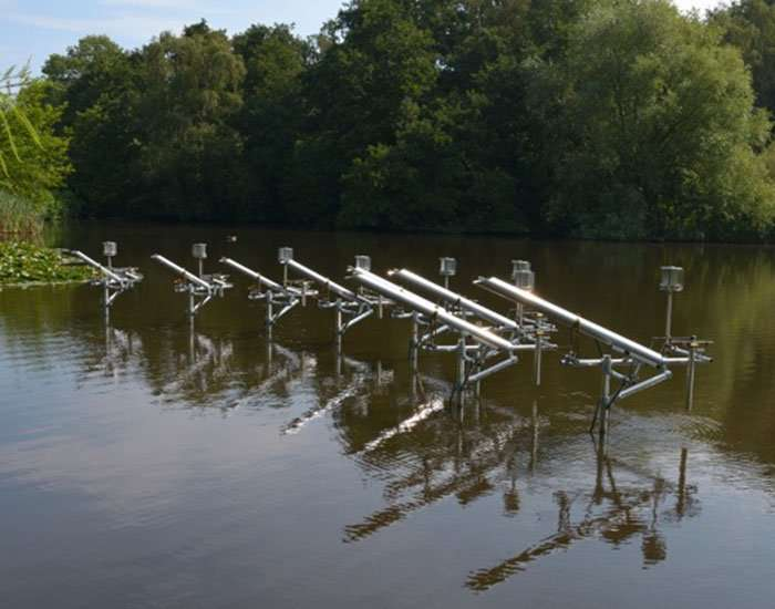 pond installation by ronald van der meijs uses weather conditions to generate sound