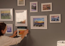 using level for gallery wall photos