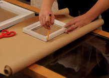 tracing frames onto crafting paper