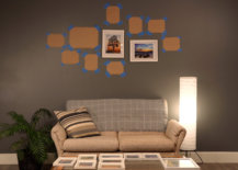 placing pictures over gallery wall templates