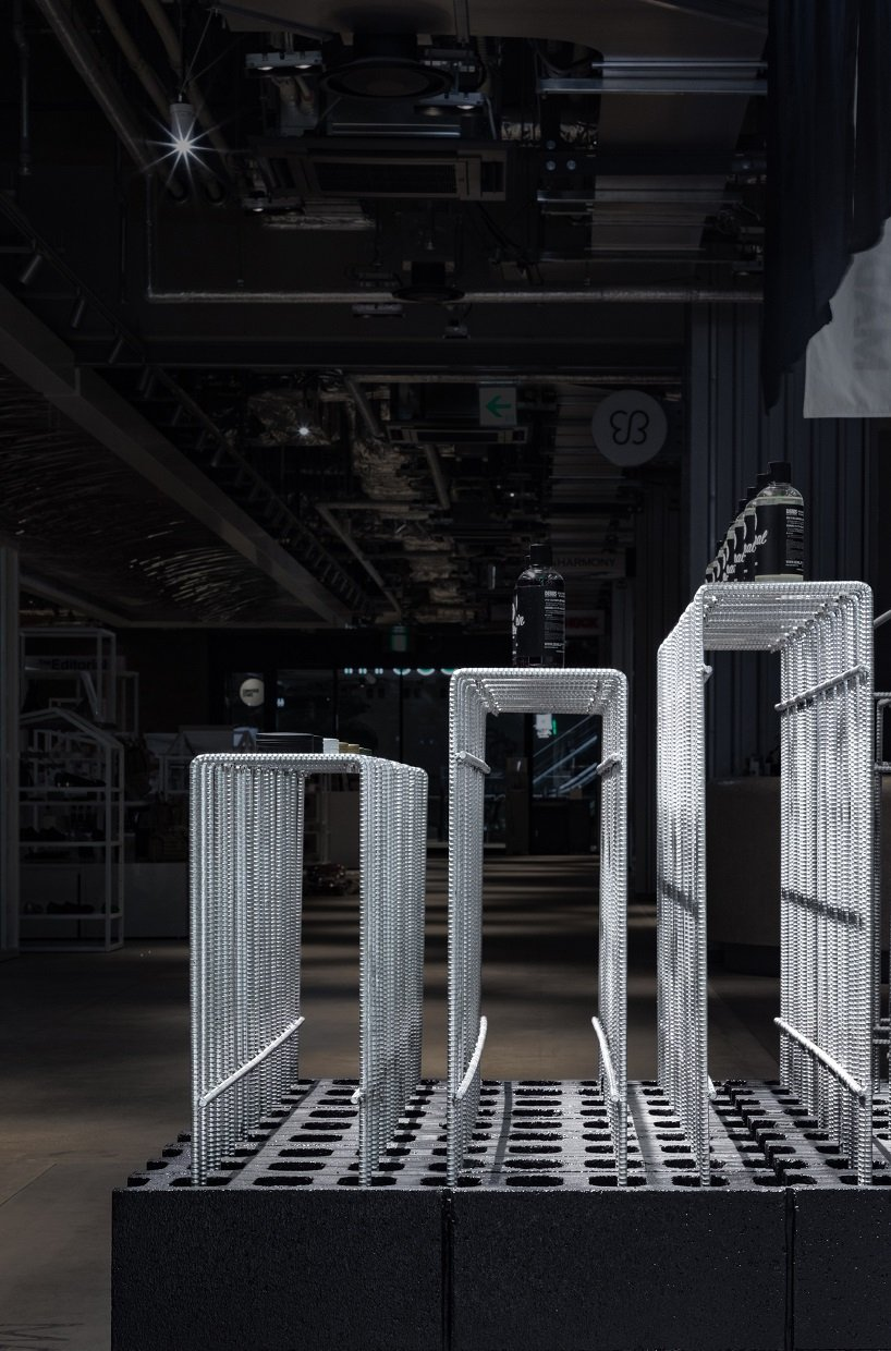 kooo architects uses steel reinforcement bars to decorate tokyo hair salon designboom