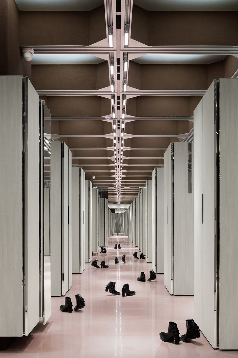 transformable adaptable cabinets structure 'J1M5' boutique by various associates in china