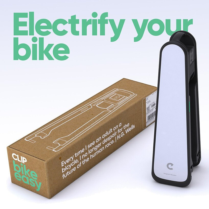 CLIP is a portable e-motor that turns any bicycle into an e-bike