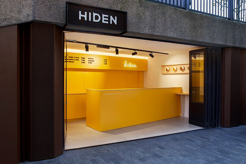 japanese food shop by takagicapéran appears as a bright pop of yellow in london