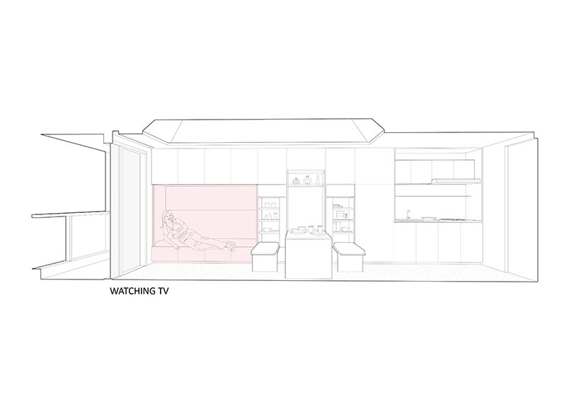 k thengono designs a compact living that fits everyday needs for a young married couple 12