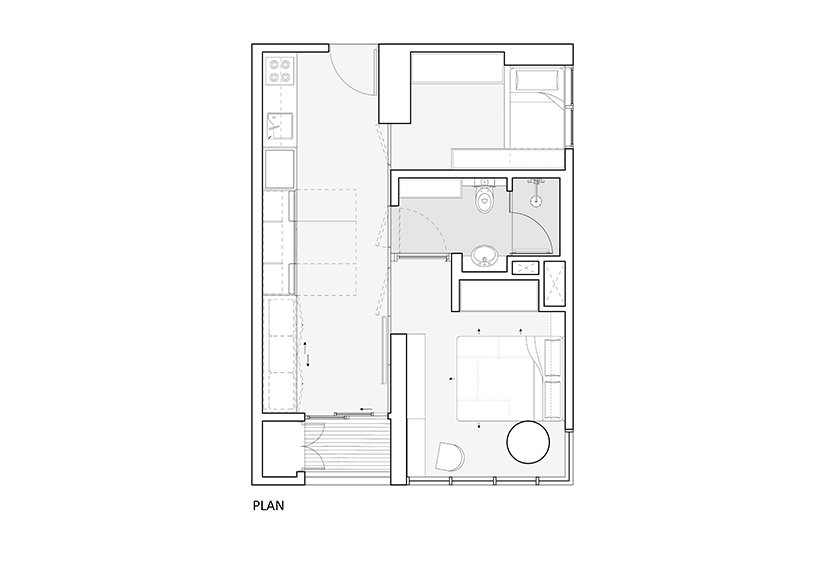 k thengono designs a compact living that fits everyday needs for a young married couple 8