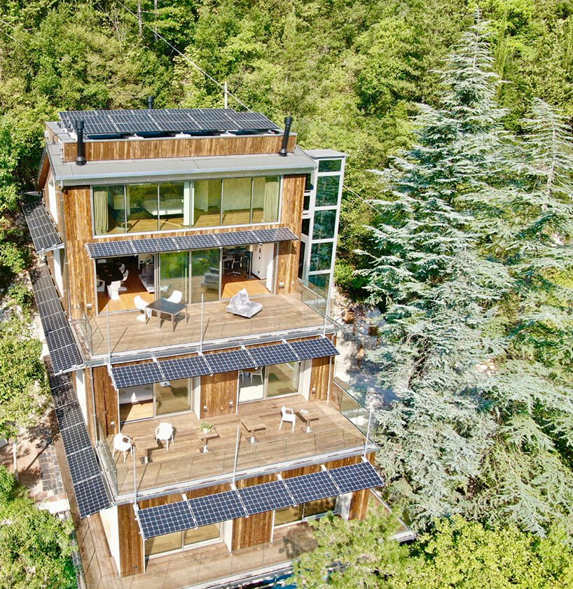 'la forestale' is a luxury ecolodge immersed in the italian landscape