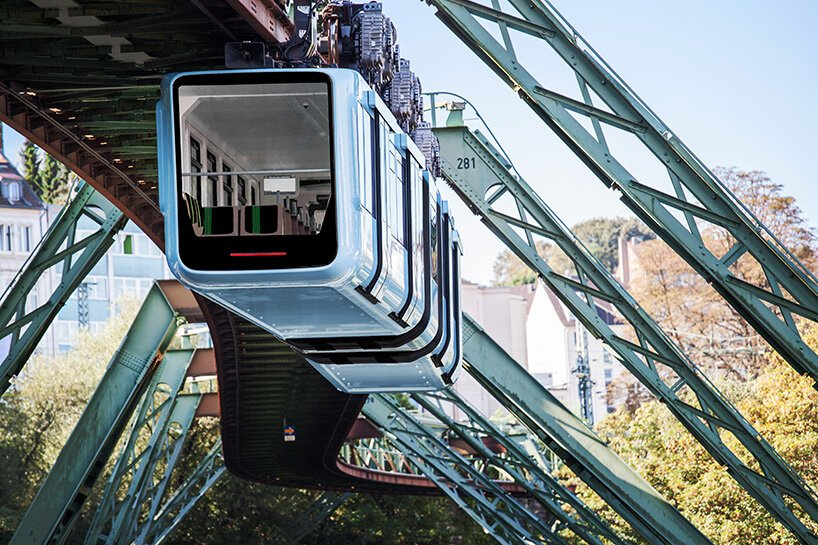 büro staubach's new cars for the world's oldest suspension railway in wuppertal, germany