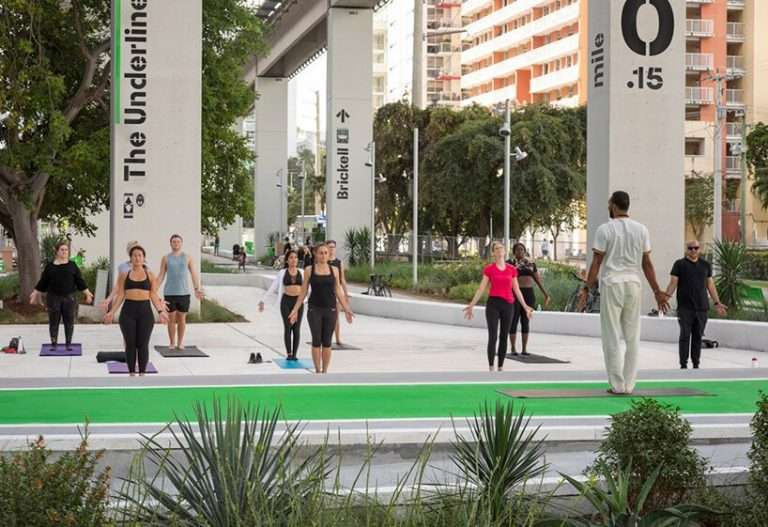 the underline, miami's linear park and urban trail, opens to the public