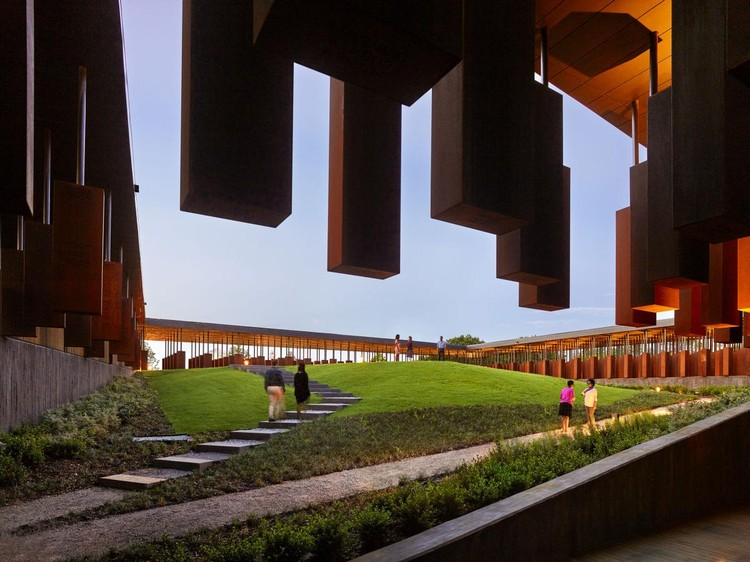 The National Memorial for Peace and Justice. Image Courtesy of MASS Design Group