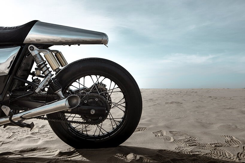 bandit9 jaeger's sci-fi body kit morphs royal enfield continental GT 650