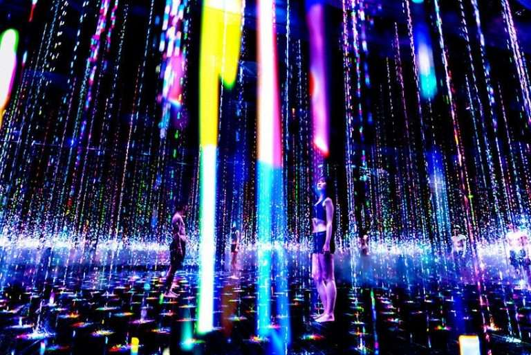 teamLab stages immersive art and sauna experience in tokyo