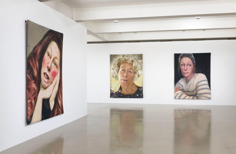 cindy sherman weaves her instagram pictures into tapestries at sprüth magers, los angeles