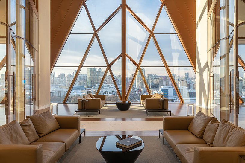 foster + partners first project in russia celebrates the crystalline structure of copper