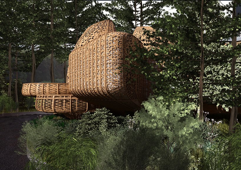 ded studio designs for bamboo structured wellness resort within chinese woodland 3