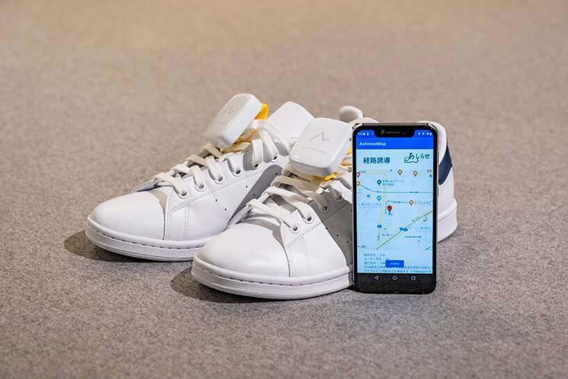 honda is currently developing 'ashirase', a navigation system in shoes to help the visually impaired while walking