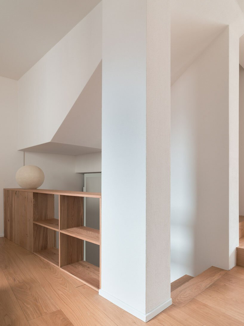 rinaldo del nero preserves historic 'built to last' house with timber intervention
