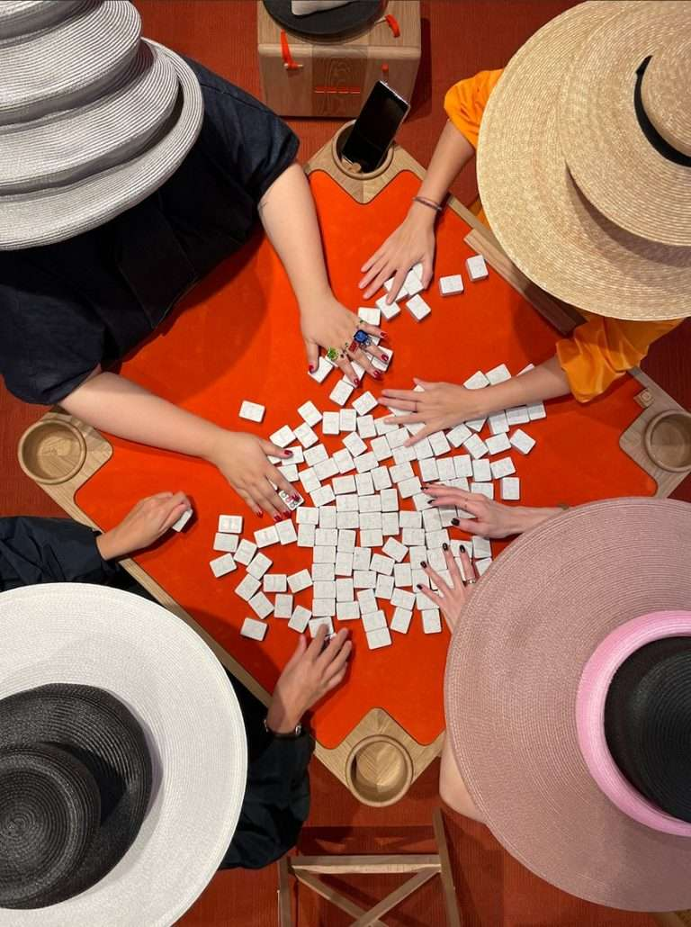EDIT MAHJONG is a 100% biodegradable set made from fashion waste