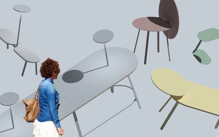 'haven' social table collection by mike & maaike brings people together purposefully