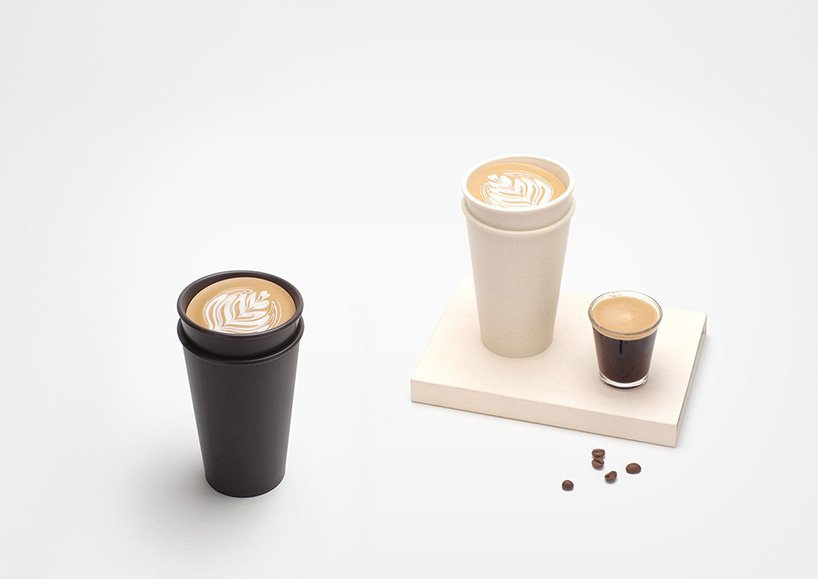 'take out' biomass coffee mug stops liquid from spilling out