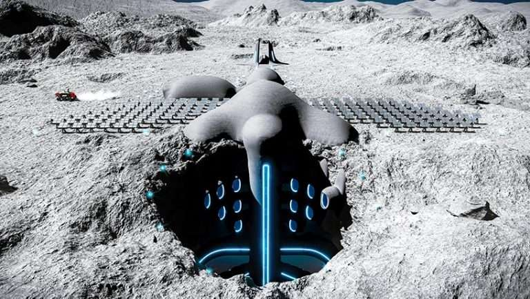 this futuristic village will take place on the moon